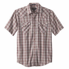 Short Sleeve Frontier Shirt  Herringbone Plaid