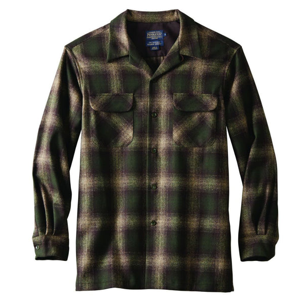 Fitted Board Shirt <br> Brown/Green/Taupe Mix Ombre