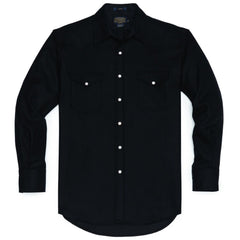 Fitted Canyon Shirt  Black Solid