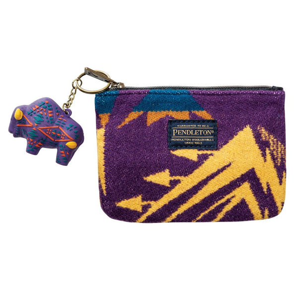 Zip Pouch with Key Chain <br> Echo Peaks Purple