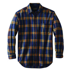Long Sleeve Lodge Shirt  Brown/Navy Plaid