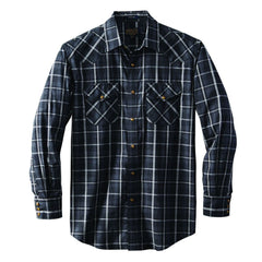 Long Sleeve Frontier Shirt  Grey/Black Plaid