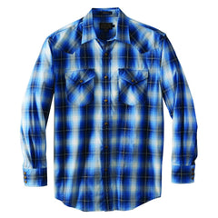 Long Sleeve Frontier Shirt  Ivory/Blue Plaid