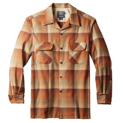 Fitted Board Shirt  Pumpkin/Brown Ombré