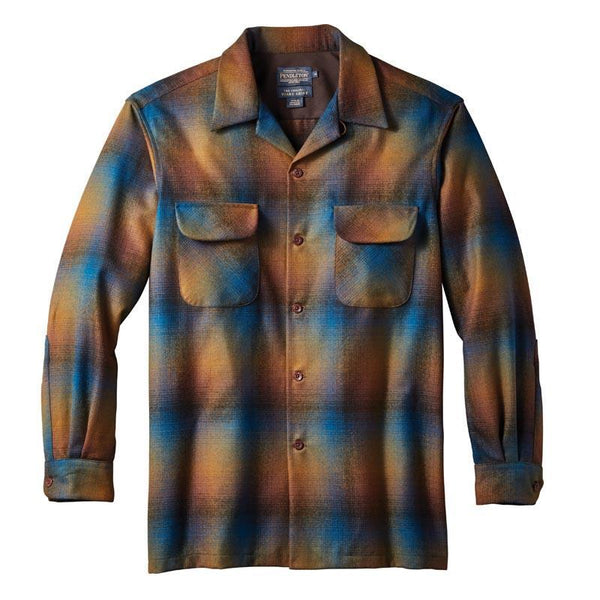 Fitted Board Shirt <br> Multi Blue & Green Ombré