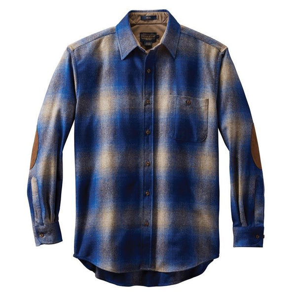 Fitted Trail Shirt <br> Tan & Blue Ombré