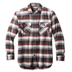 Super Soft Burnside Flannel Shirt  Red/Brown/Navy Plaid