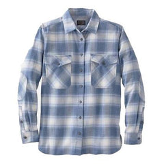 Double-Brushed Flannel Elbow Patch Shirt  Vintage Indigo Ombré
