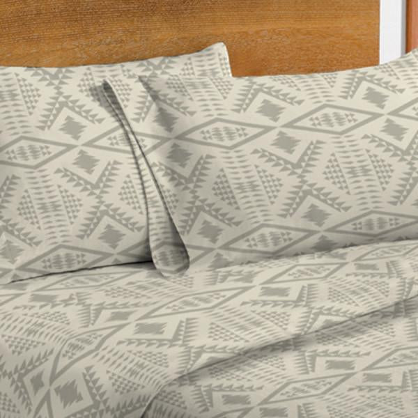 Diamond River Flannel Sheet Set <br> Taupe