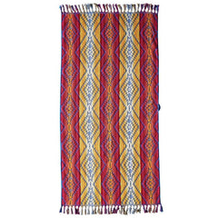 Pagosa Springs Spa Towel with Fringe  Fuschia