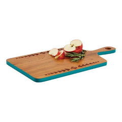 Acacia Wood Serving Board Thunder Quarrel Turquoise