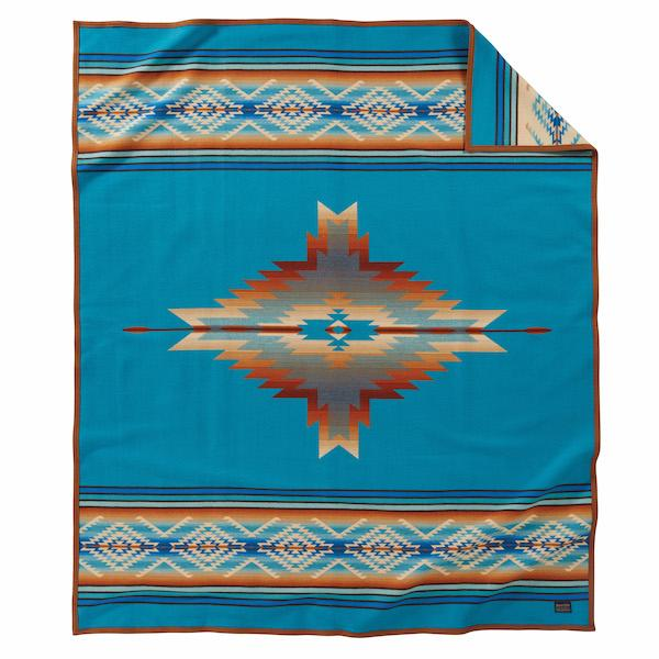Pagosa Springs Blanket <br> Turquoise
