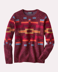 Adobe Blocks Pullover Sweater  Red
