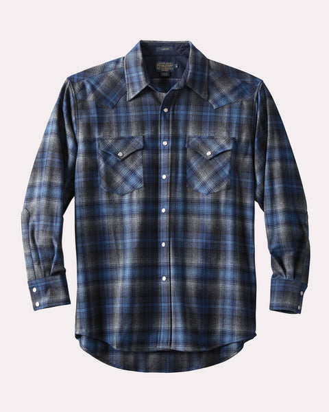 Canyon Shirt <br> Blue & Grey Ombré