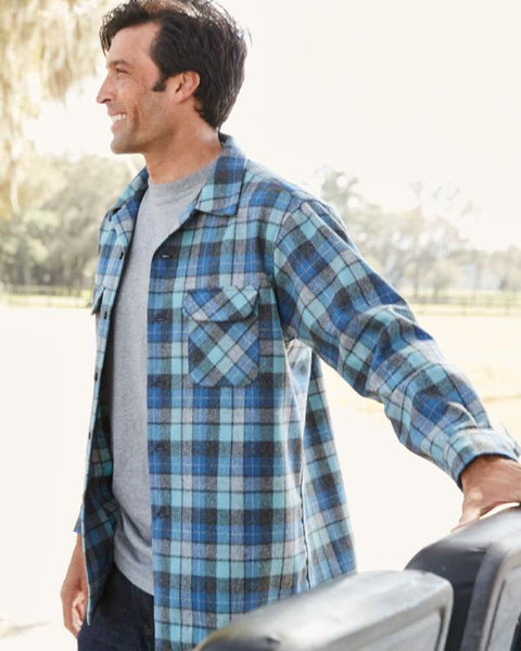 Fitted Board Shirt <br> Blue Original Surf Plaid
