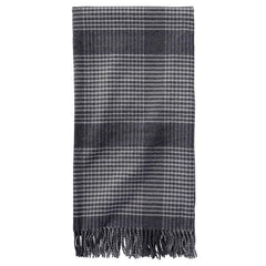 5th Avenue Throw  Charcoal Plaid