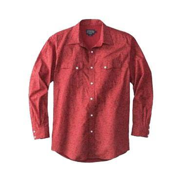 Thomas Kay Fitted Western Print Shirt <br> Red Vine