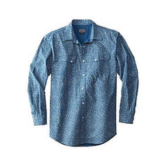 Thomas Kay Fitted Western Print Shirt  Blue Paisley