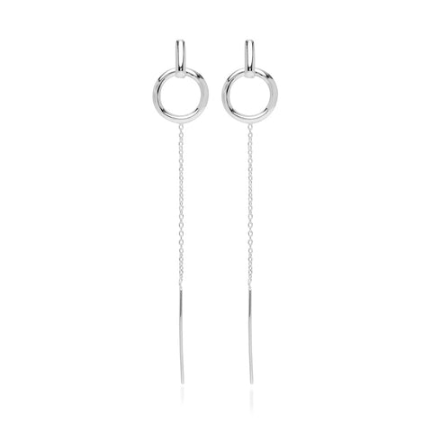 Arctic, Long Igloo Earrings