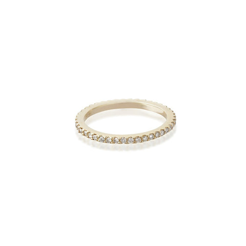 Aligned, 1-Line Ultra Light Ring, Gold/White