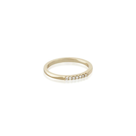 ALIGNED, 1/6-Line Ultra Light Ring, Gold/White
