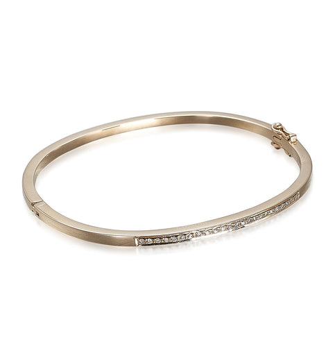 DIAMONDS, 1/4-Lined Bangle, gold