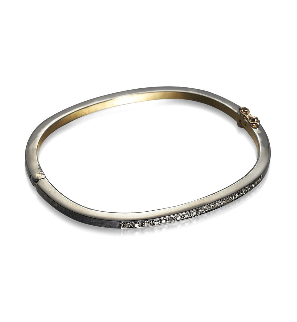 DIAMONDS, 1/4-Lined Bangle