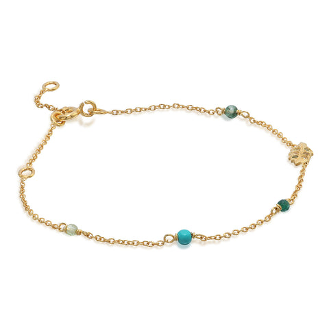 MEADOW, Breeze Bracelet, Gold/Green