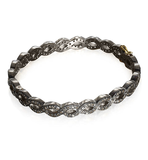 DIAMONDS, All Braided Bangle