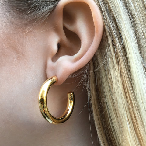 THEM HOOPS, Chunky Mega Hoops, Gold