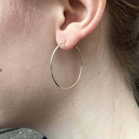 RIO, Large Energy Hoops 30mm, Gold