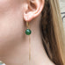 DROPS DELIGHT, Green onyx Dangles