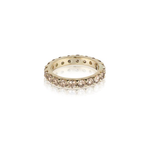 Aligned, 1/1 line 3mm Ring, Gold/Champagne