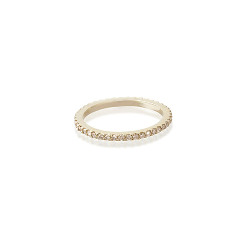Aligned, 1-Line Ultra Light Ring, Gold/Champagne