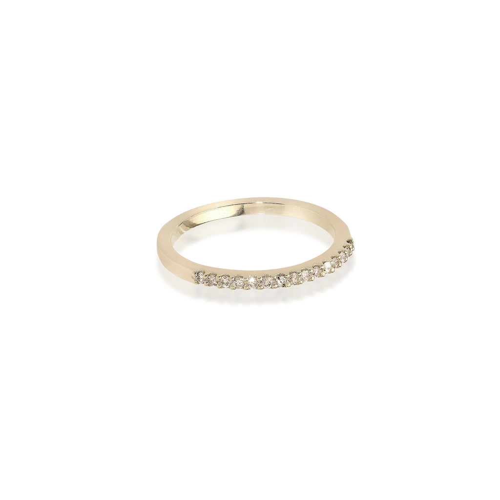 ALIGNED, 1/3-Line Ultra Light Ring, Gold/Champagne