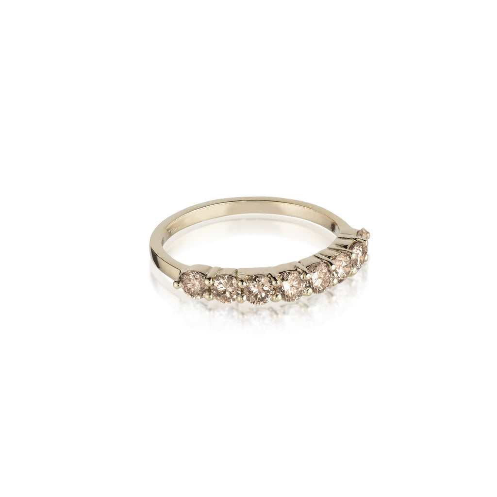 Aligned, 1/3 line 3mm Ring, Gold/Champagne