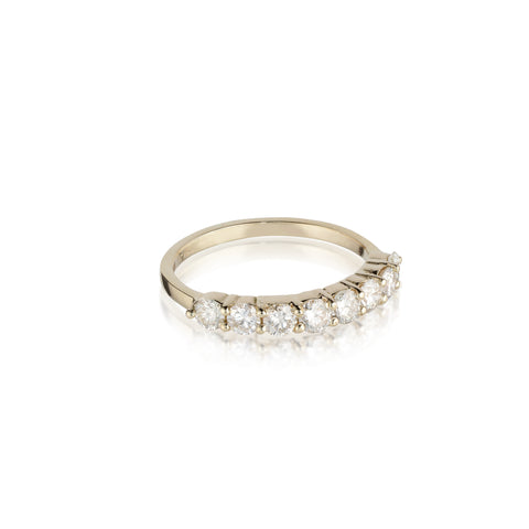 Aligned, 1/3 line 3mm Ring, Gold/White