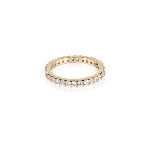 Aligned, 1/1 Line 2mm Ring, Gold/White