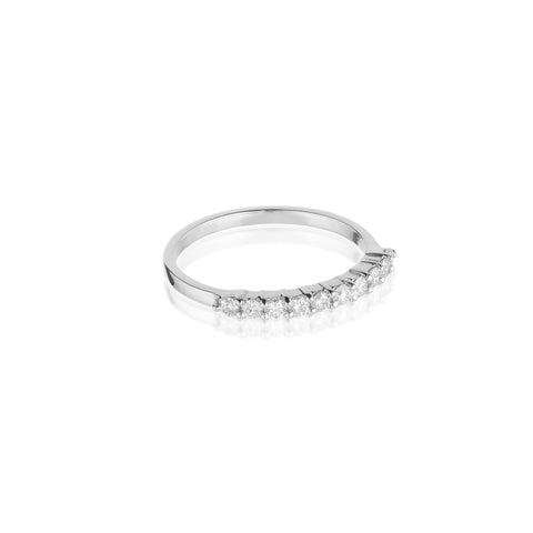 Aligned, 1/3 Line 2mm Ring, White/White