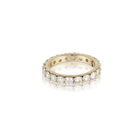 Aligned, 1/1 line 3mm Ring, Gold/White