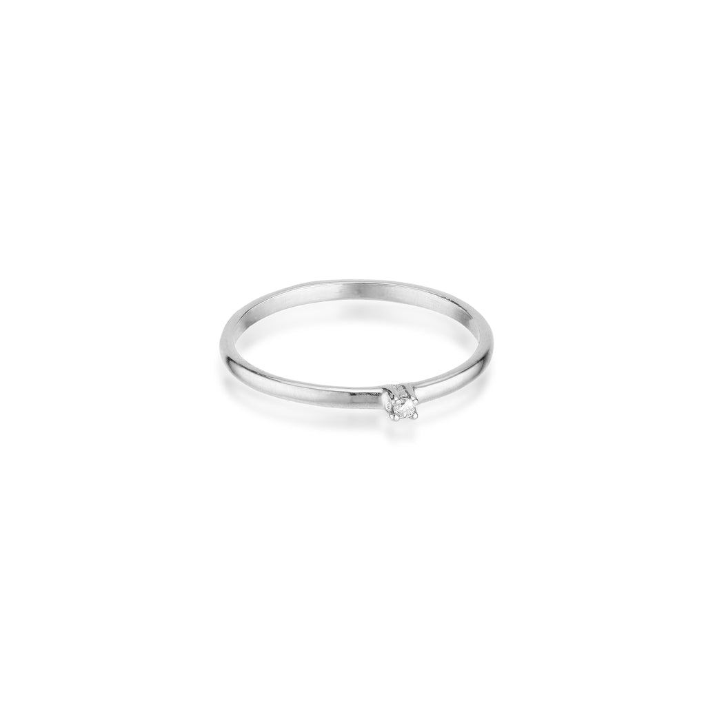OLYMPIA, Artemis Ring, White Gold