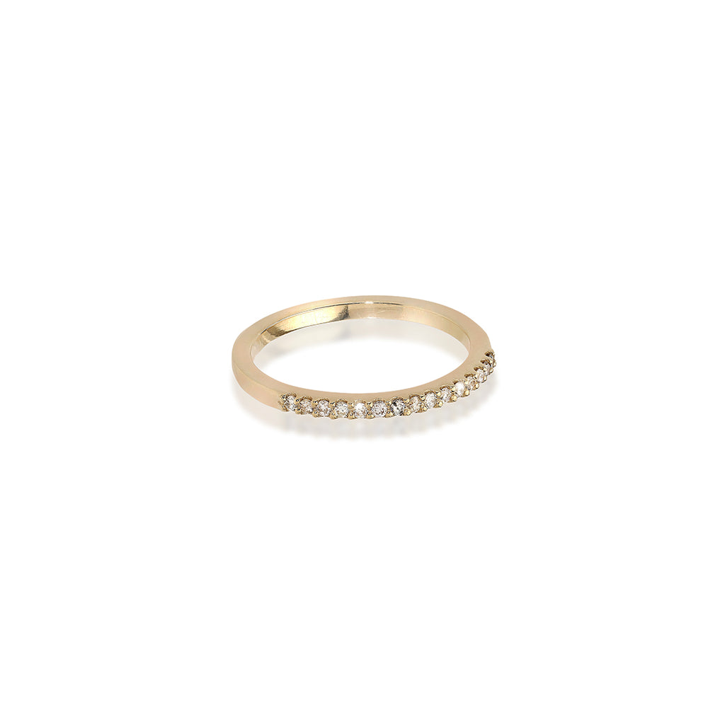ALIGNED, 1/3-Line Ultra Light Ring, Gold/White