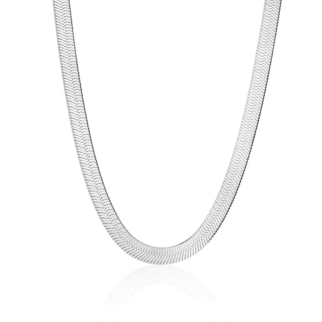BASIC, Herringbone Necklace, Silver