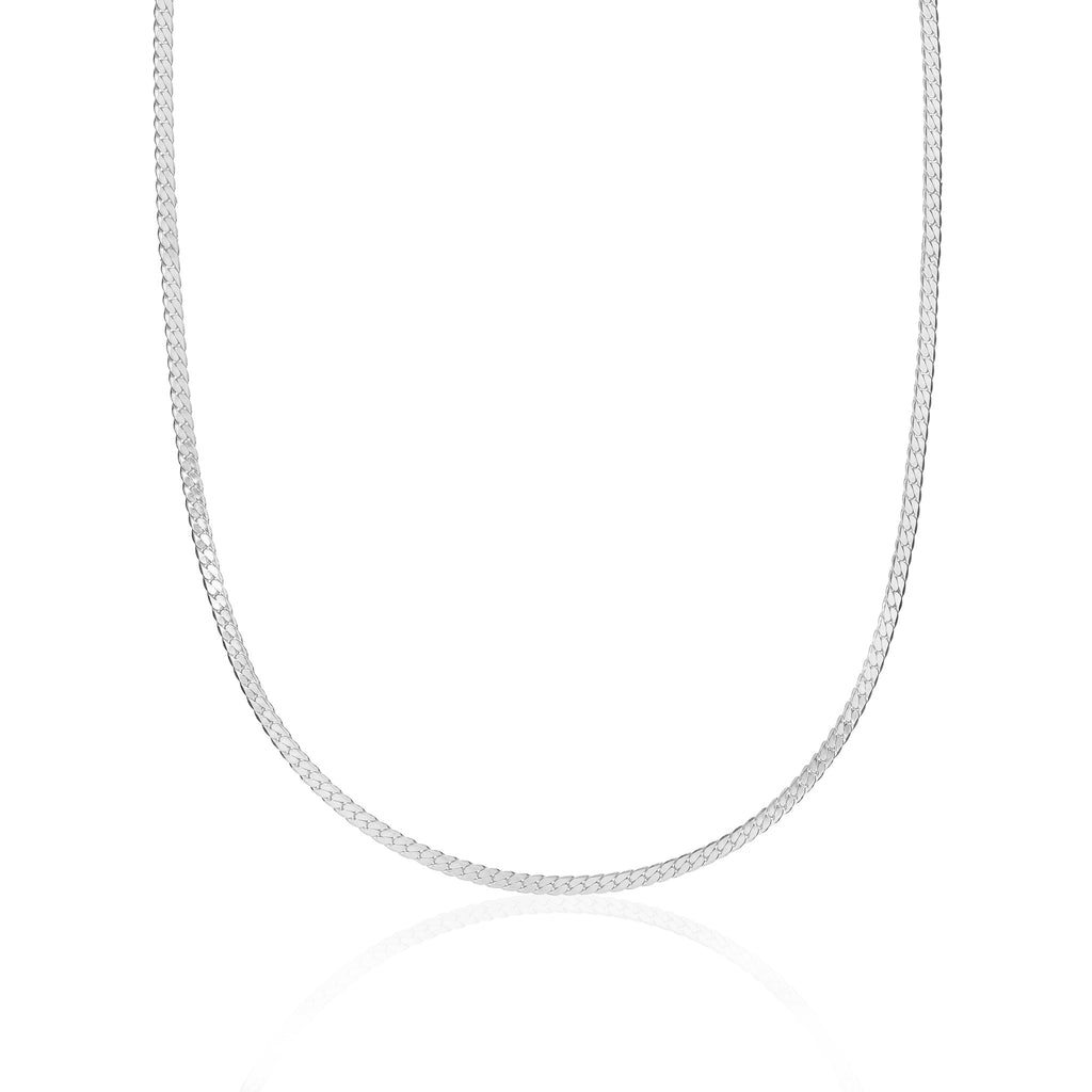 BASIC, Small flat Necklace, Silver