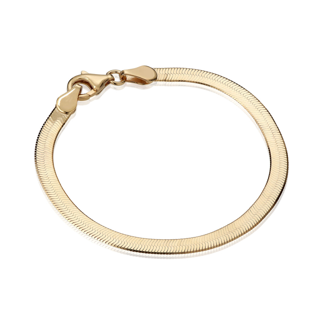 BASIC, Herringbone Small Bracelet, Gold