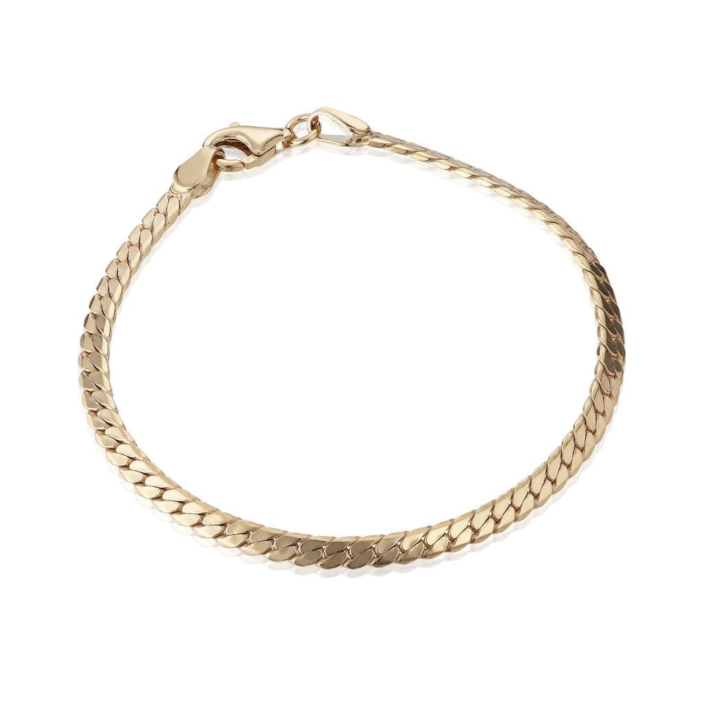 BASIC, Small flat bracelet, Gold