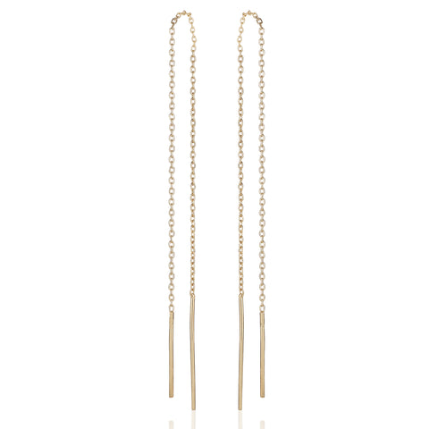 BASIC, Nude long dangles, gold