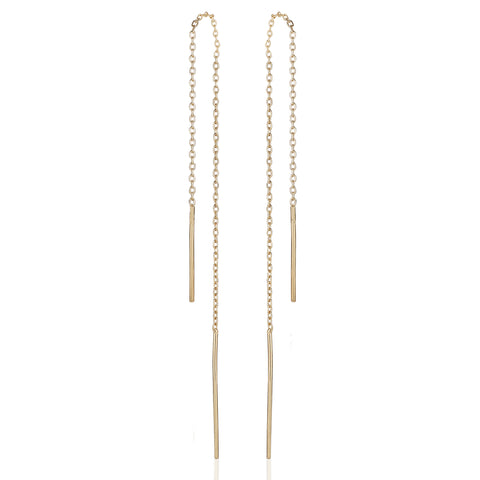 BASIC, Nude short dangles, gold