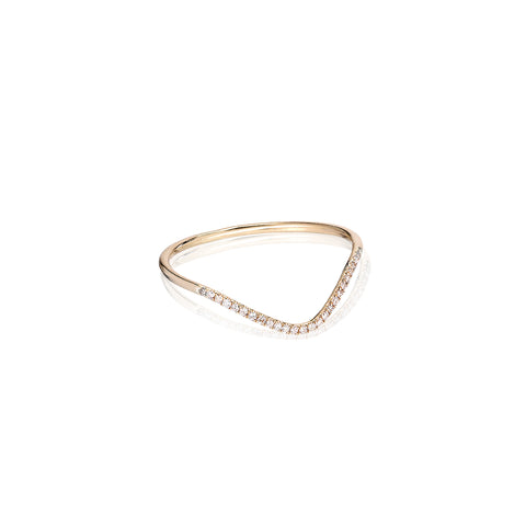 MARIN, Surf diamond ring, Gold