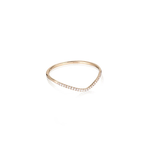 MARIN, Wave diamond ring, Gold